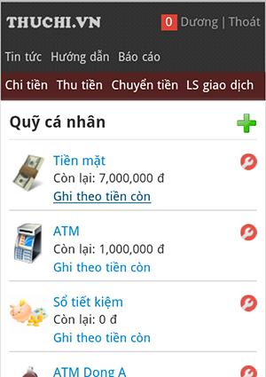 ghi theo tiền còn thuchi.vn